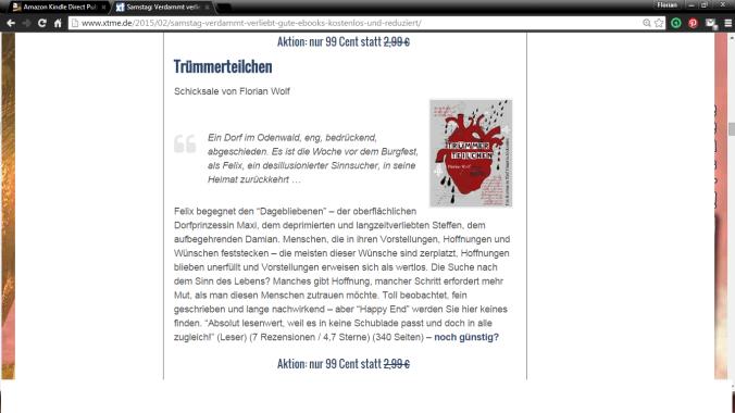 Trümmerteilchen auf xtme.de